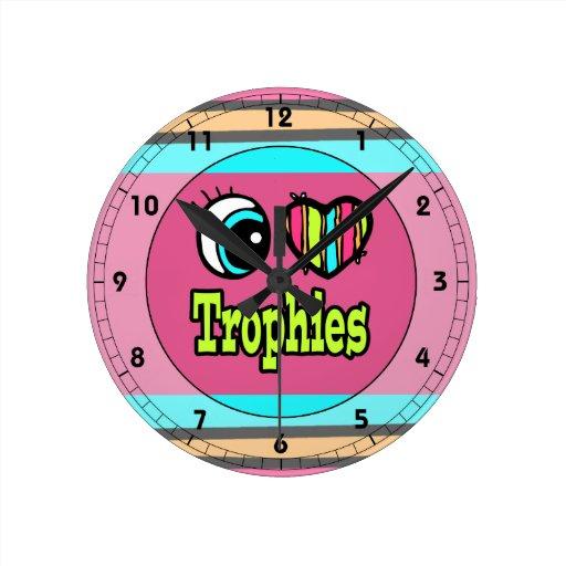 Trofeos brillantes del amor del corazón I del ojo Relojes