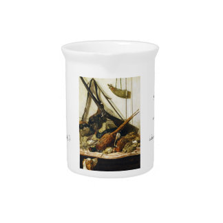 Trofeos de la caza Claude Monet 1862 Jarra Para Bebida