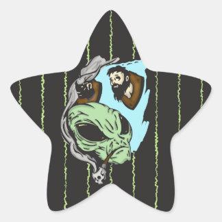 Trofeos extranjeros de la cabeza humana calcomanias forma de estrella