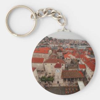 Trogir 3 basic round button keychain