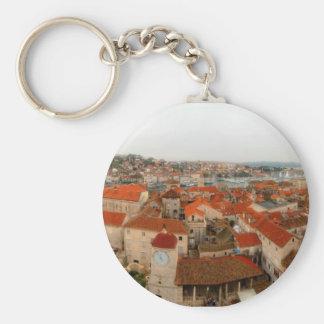 Trogir panorama 2 basic round button keychain