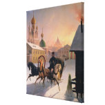Troika on the Street in St. Petersburg, 1850s Gallery Wrap Canvas