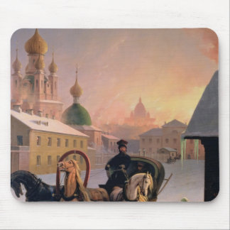 Troika on the Street in St. Petersburg, 1850s Mouse Pads