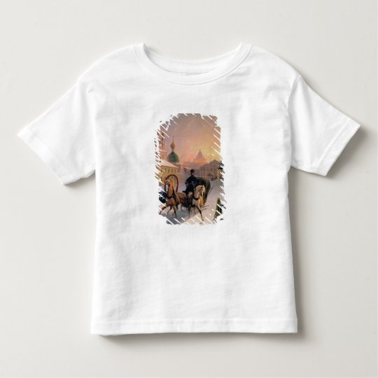 Troika on the Street in St. Petersburg, 1850s Toddler T-shirt
