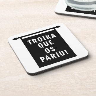 Troika Que os Pariu Drink Coaster