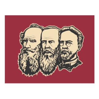 Troika rusa: Tolstoy, Dostoevsky, Chekhov Postales