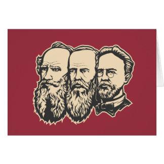 Troika rusa: Tolstoy, Dostoevsky, Chekhov Tarjeta De Felicitación