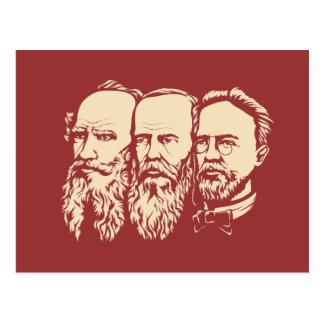 Troika rusa: Tolstoy, Dostoevsky, Chekhov Tarjeta Postal