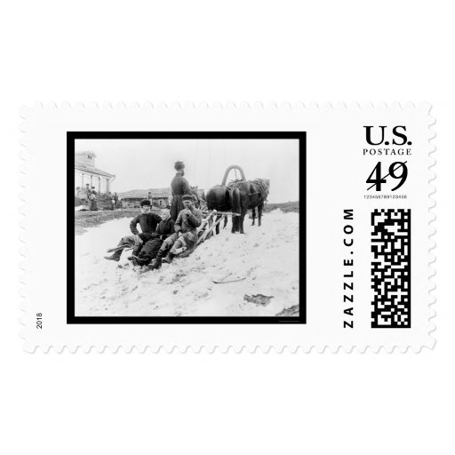 Troika Travel in Russia 1880 Postage Stamp