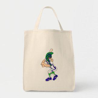 Trojan Baseball Tote Bag