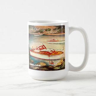 Trojan Boats Classic White Coffee Mug