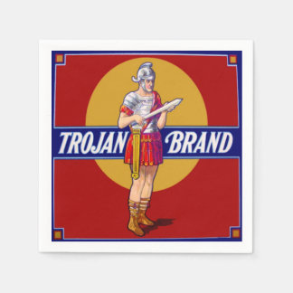 Trojan Brand Vintage Label Bachelor Party Joke Paper Napkin