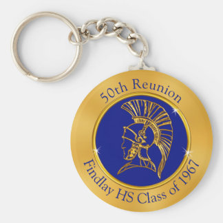 Trojan Class Reunion Keychains YOUR TEXT and COLOR