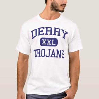 Trojan Derry medio Pennsylvania de Derry Playera