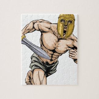 Trojan helmet warrior puzzle