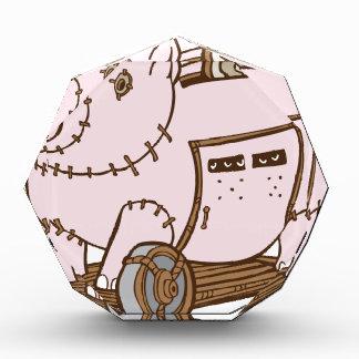 Trojan Horse Piggy Bank Cartoon Acrylic Award