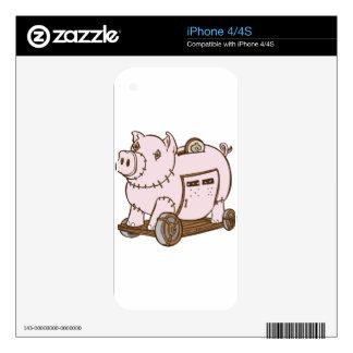 Trojan Horse Piggy Bank Cartoon Decals For The iPhone 4