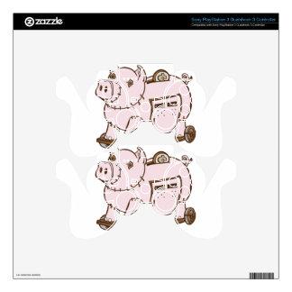 Trojan Horse Piggy Bank Cartoon Decal For PS3 Controller