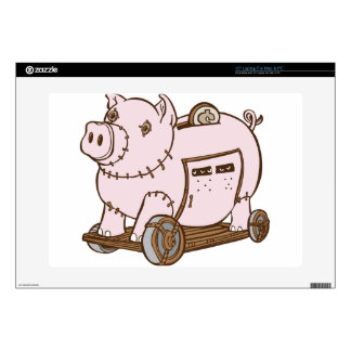 "Trojan Horse Piggy Bank Cartoon Skin For 15"" Laptop"