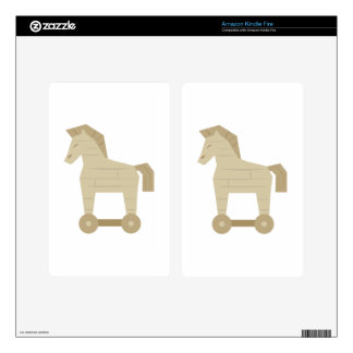 Trojan Horse Kindle Fire Decal