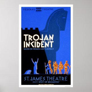 Trojan Incident Homer 1937 WPA Poster