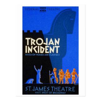 Trojan Incident Postcard