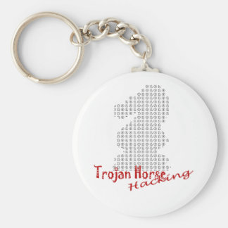 Trojan Basic Round Button Keychain