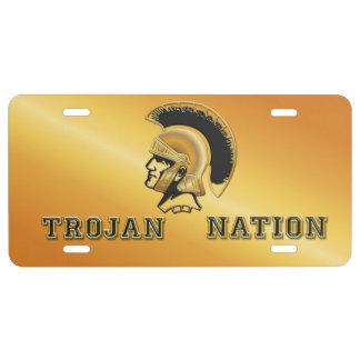 Trojan Nation - Team Spirit License Plate