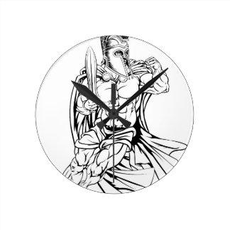 Trojan o espartano reloj redondo mediano