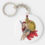 Trojan or Spartan Basic Round Button Keychain