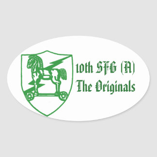 Trojan Products Oval Sticker