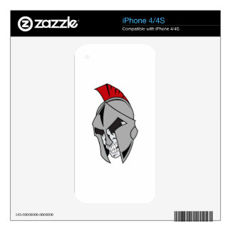 TROJAN SKULL DECALS FOR iPhone 4S