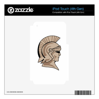 TROJAN SPARTAN HEAD DECALS FOR iPod TOUCH 4G
