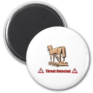 Trojan Threat Detected 2 Inch Round Magnet