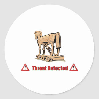Trojan Threat Detected Classic Round Sticker