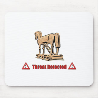 Trojan Threat Detected Mouse Pad