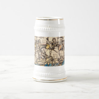 Trojan War Battle Beer Stein