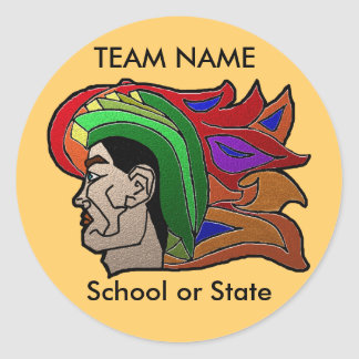 Trojan Warrior Greeting Cards Classic Round Sticker