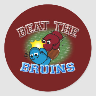 Trojans Beat Bruins Classic Round Sticker