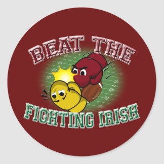 Trojans Beat The Irish Classic Round Sticker