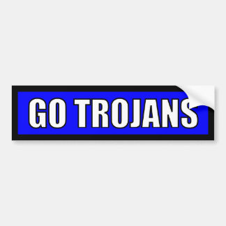 Trojans - Black Blue White Bumper Sticker