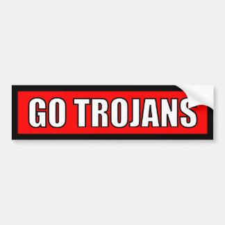Trojans - Black Red White Sticker Car Bumper Sticker