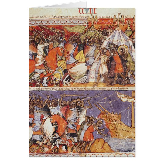 Trojans Invading Greek Camp Card
