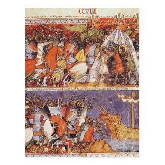 Trojans Invading Greek Camp Postcard