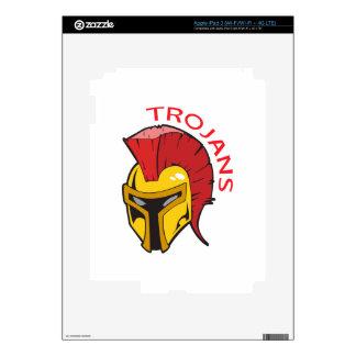 TROJANS MASCOT DECALS FOR iPad 3