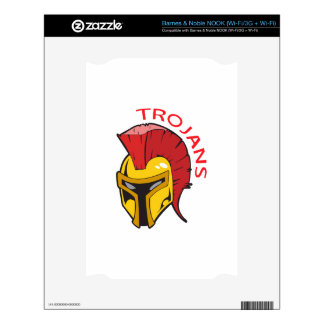 TROJANS MASCOT DECAL FOR THE NOOK