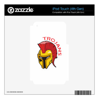 TROJANS MASCOT SKINS FOR iPod TOUCH 4G