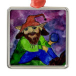 troll 1 square metal christmas ornament