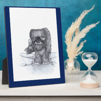 Troll and Companion drawing Plaque
