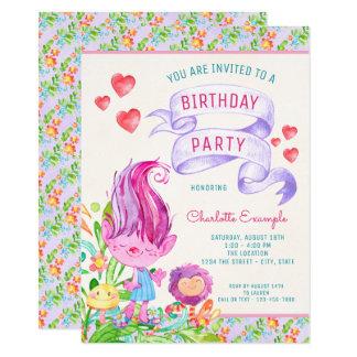 Troll Birthday Party Invitations